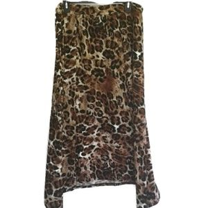 New Directions Animal Print Skirt